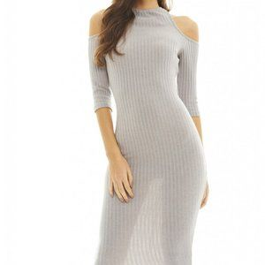 AX Paris Women's Cut Out Ribbed Knit Dress Size 8